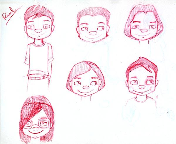 Bocetos Raúl