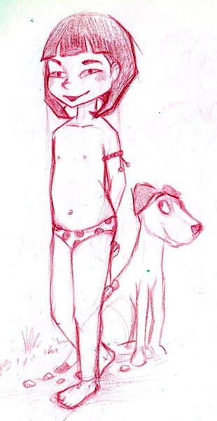 Boceto inicial Sara-Li y Maxi