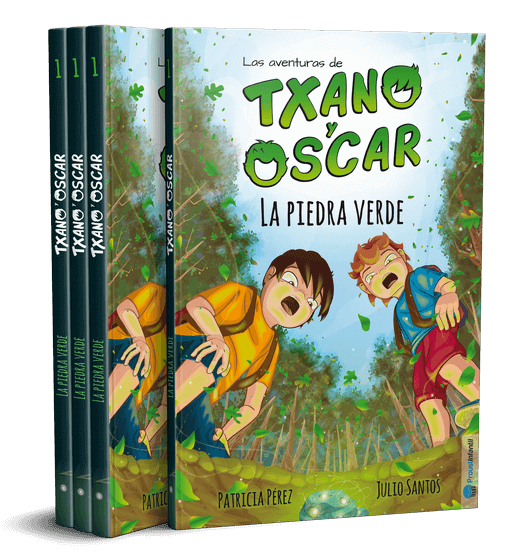 Txano y Óscar - La piedra verde - Una colección de literatura infantil freemium