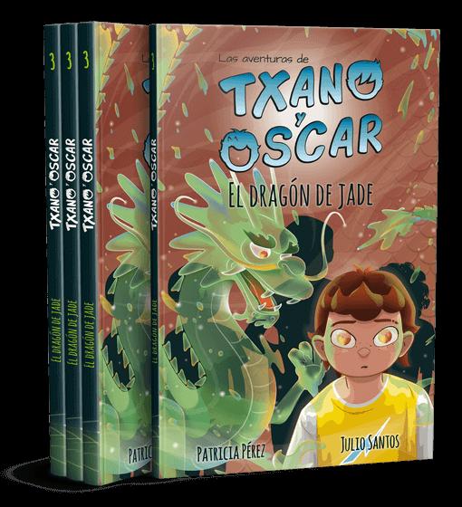 Txano y Óscar - El dragón de jade - Una colección de literatura infantil freemium